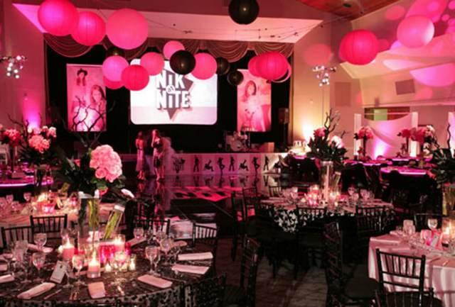 decoración salón fiesta cumpleaños 15 años arreglos con globos