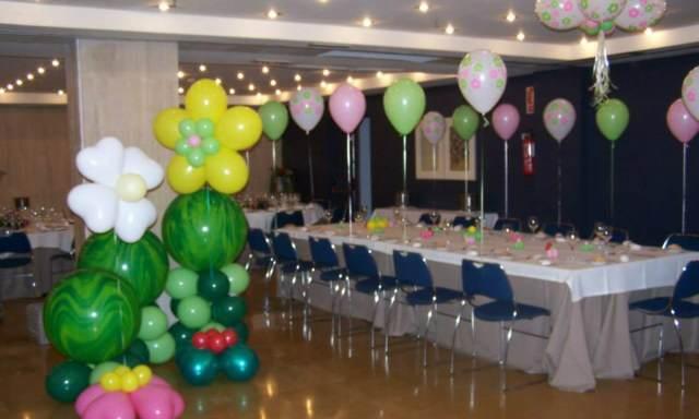 decoración salón globos ideas interesantes fiesta