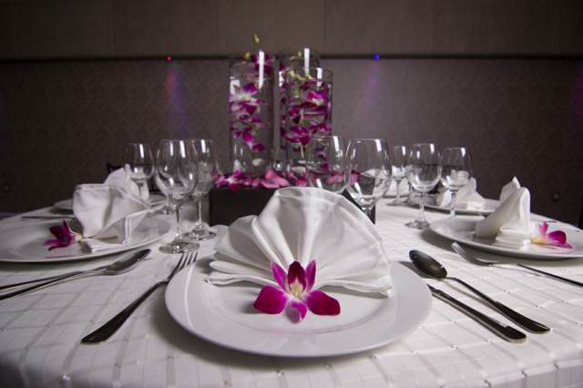 decoración temática centros mesas ideas florales orquídeas
