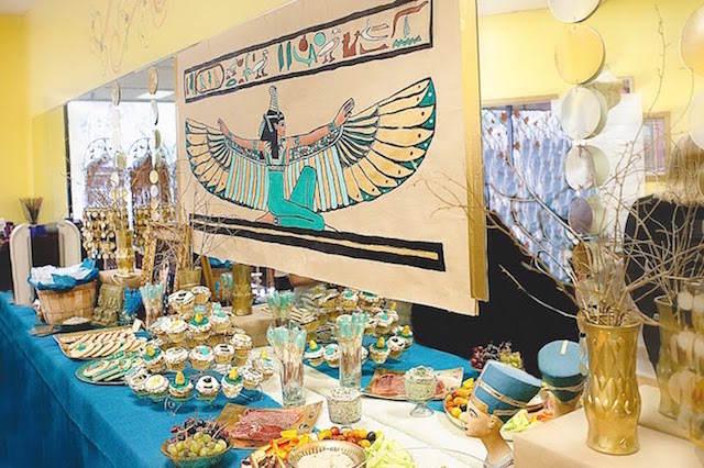 elementos egipcias decoración tematica Cleopatra