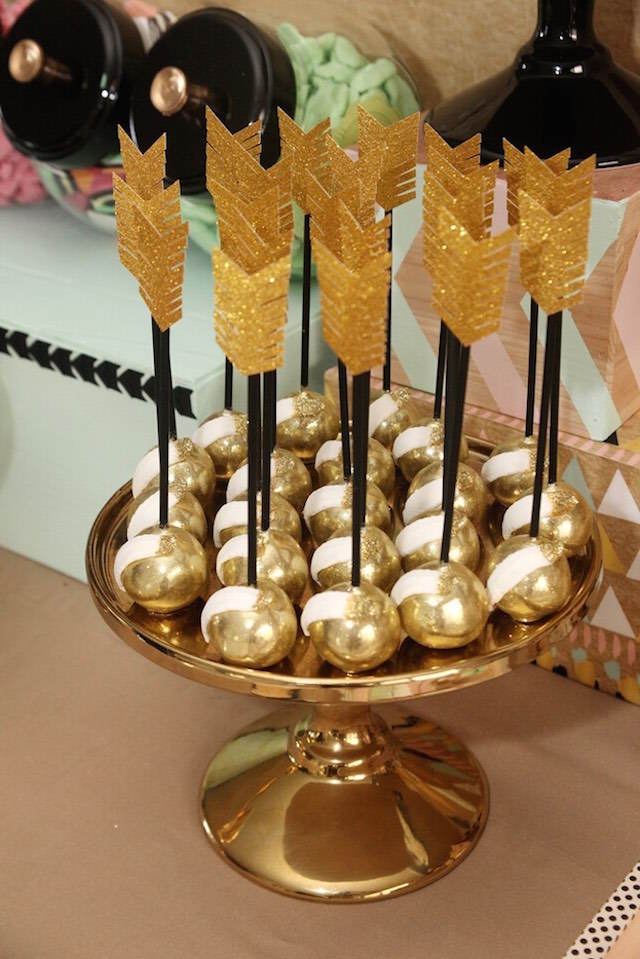 dulces tema indios decoracion de fiestas flechas