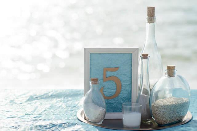 magnífica decoración boda tema playa