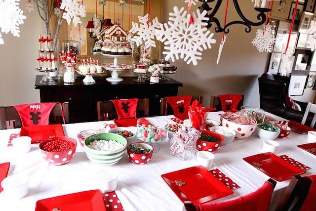 fiesta infantil tema Navidad banquetes interesantes