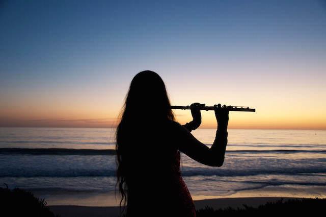 flauta música romántica bodas en la playa