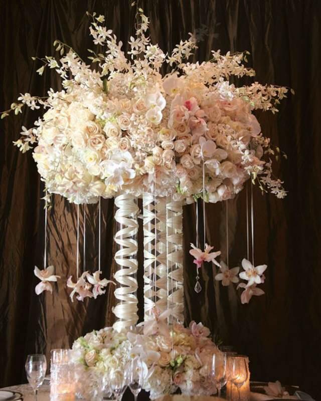 ideas decoración centros florales orquídeas fantásticas