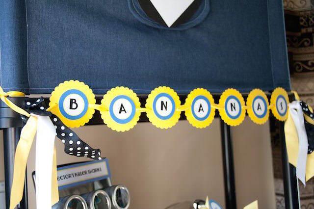 letrero banana decoración de fiestas Minions