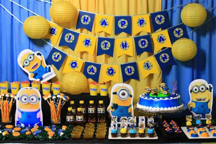 los minions decoración de fiestas temáticas divertida