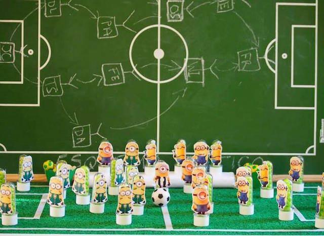 minions futbol decoracion de fiestas combinación