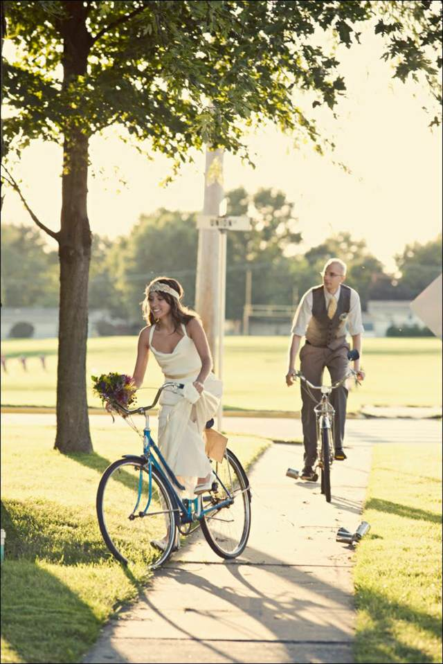 aniversario de novios bicicleta día inolvidable