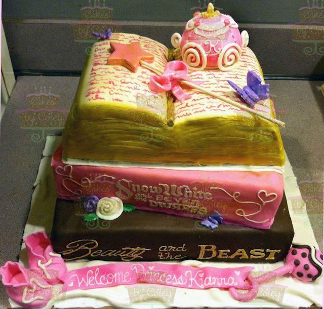 pastel para baby shower tema cuentos de hadas