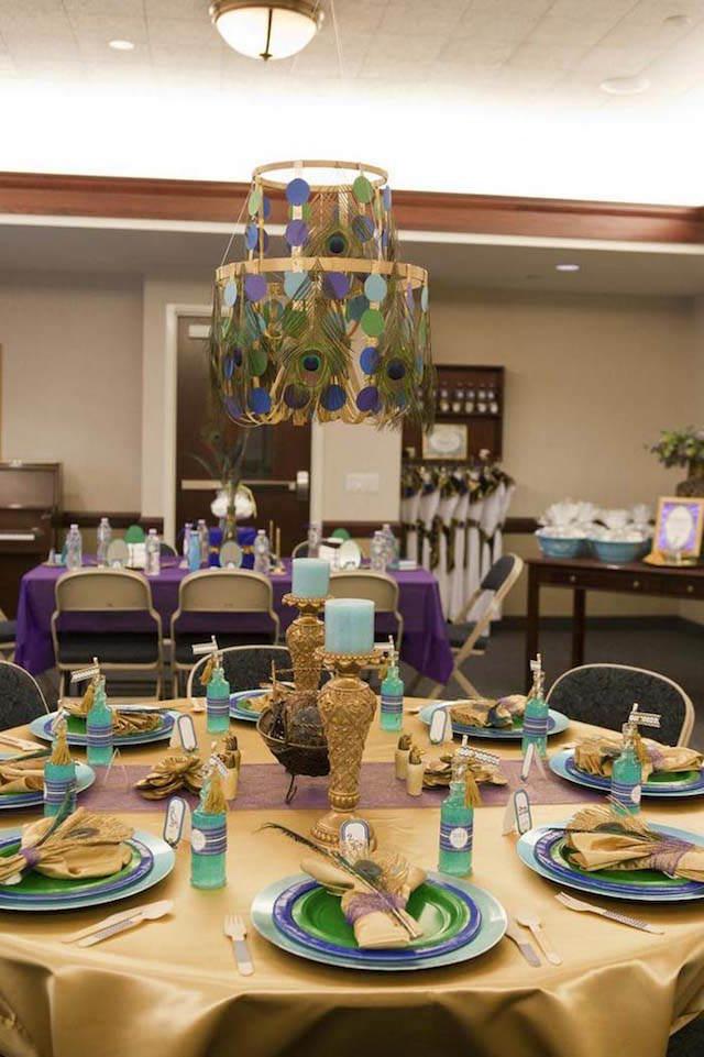 preciosa decoración de fiestas reina Cleopatra