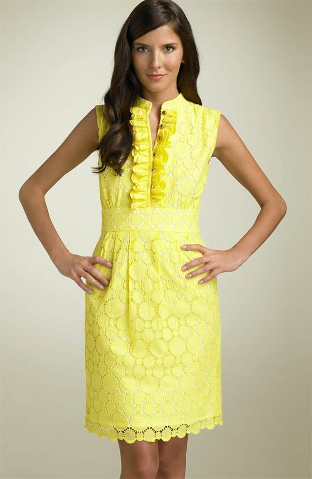 interesante vestido madrina color amarillo ideas bautizo