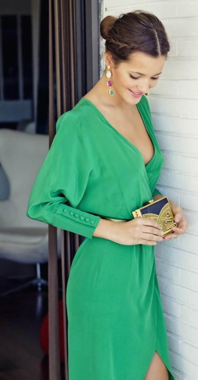 vestidos de madrina modelo magnífico color verde