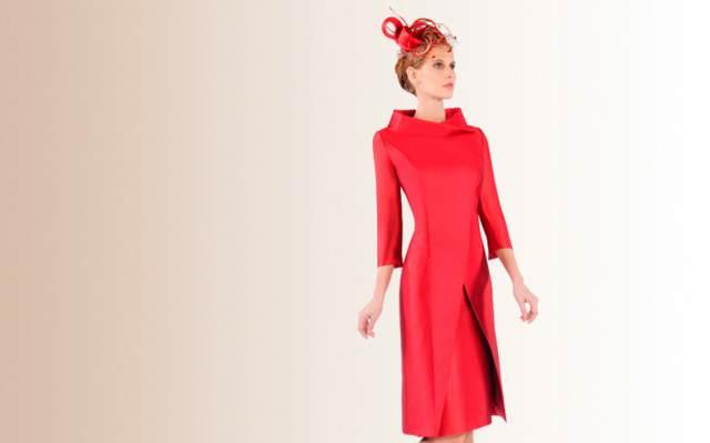 vestidos de madrina color rojo bautizo memorable