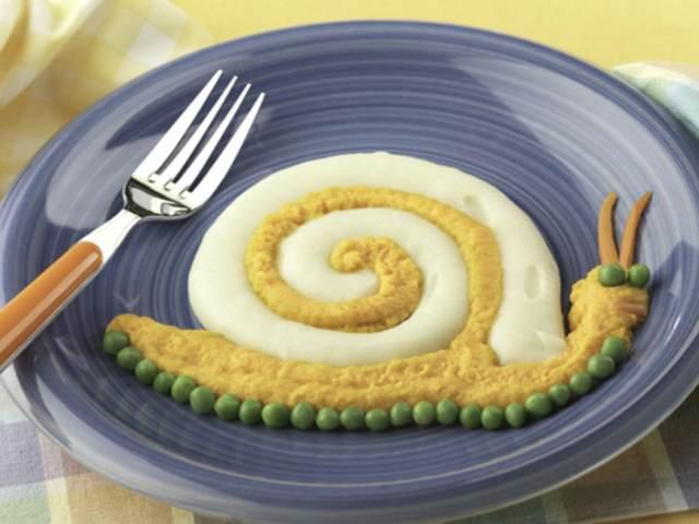 comidas sanas caracol patata pescado zanahoria fiestas infantiles menú