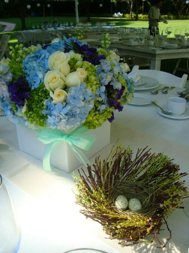 centros mesa arreglos florales ideas fiesta jardín