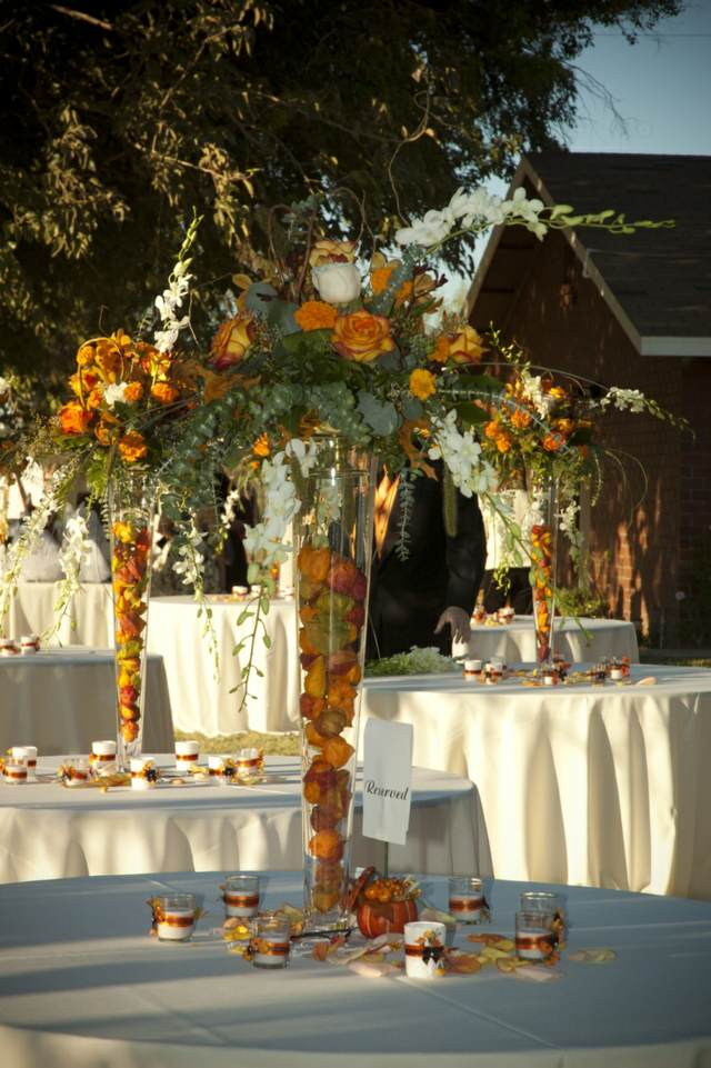 decoración fantástica flores hermosas ideas fiesta