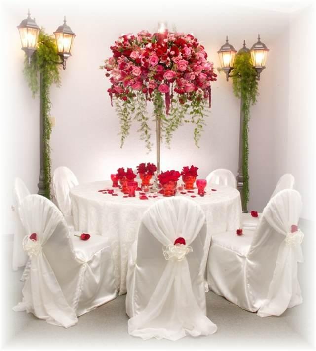 decoracin elegante flores hermosas fiestas