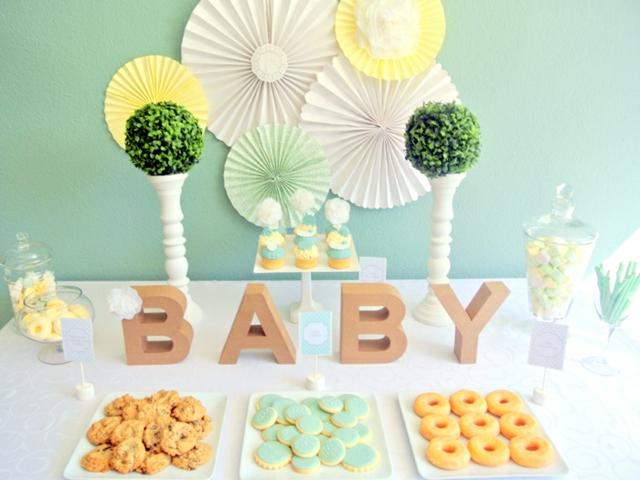 fantástica decoración para baby shower ideas originales
