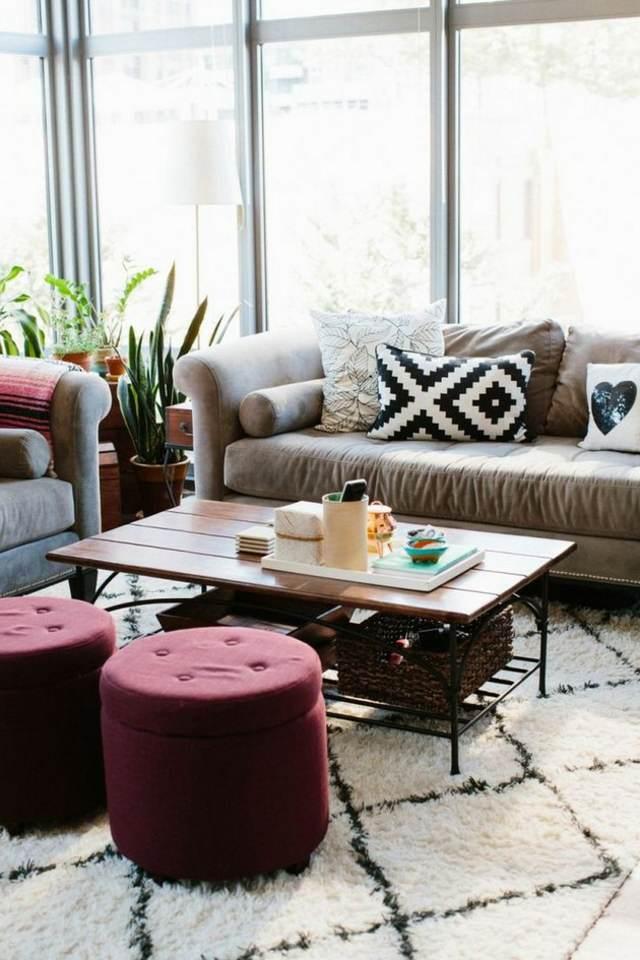 fantástica decoración hogar color marsala ideas
