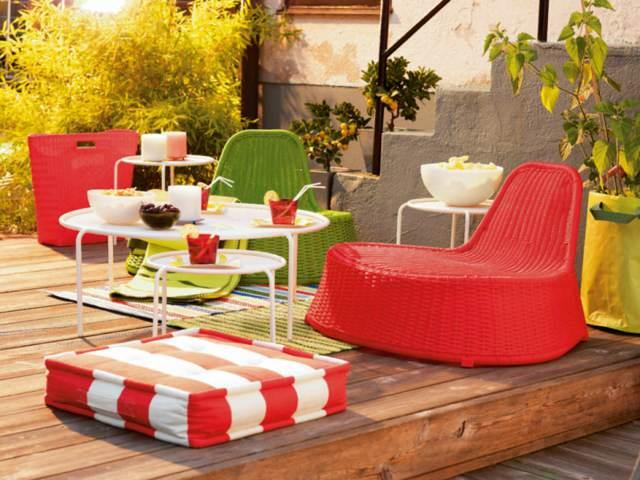 decoración para el hogar color rojo verde
