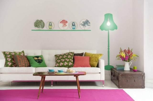 decoración preciosa hogar otoño colorido