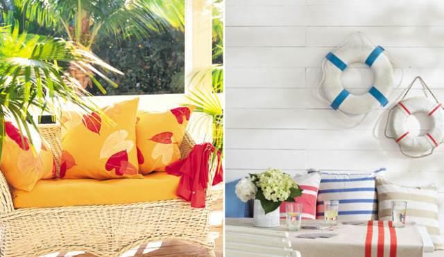 decoración preciosa verano cojines nautica ideas verano