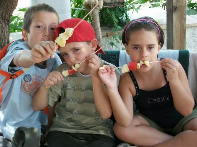fiestas infantiles menú saludable frutas