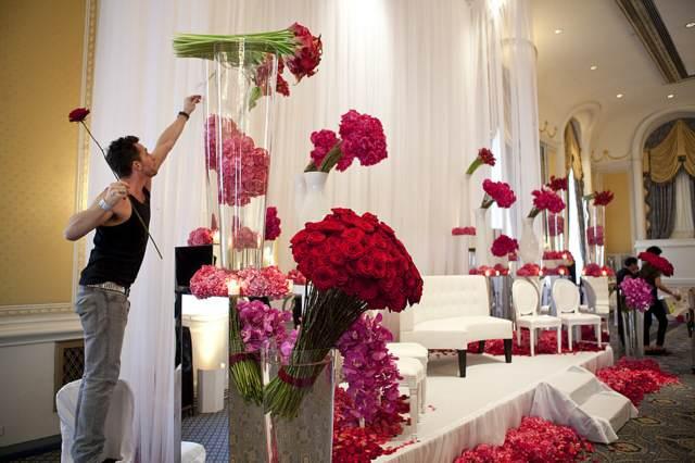 flores hermosas decoración fiesta cumpleaños ideas