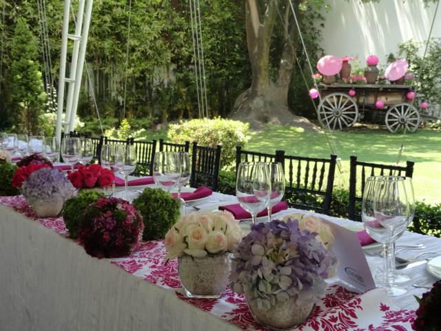 flores hermosas jardín fiesta temática