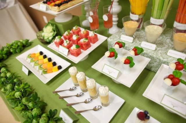 mesa frutas menú saludable boda comidas sanas