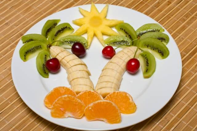palmera frutas menú saludable ideas originales fiestas infantiles