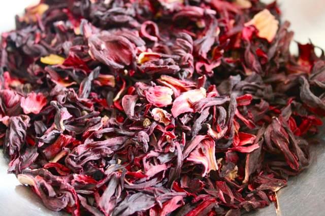 rosa de Jamaica té saludable información menú