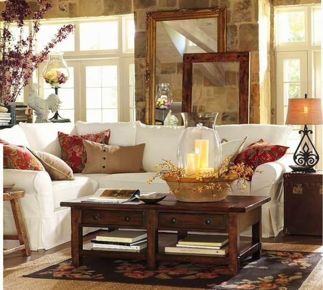 salón decoración maravillosa otoño tendencias 2015
