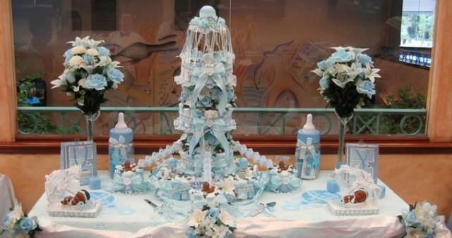 decoración fabulosa Bautizo nino bebe