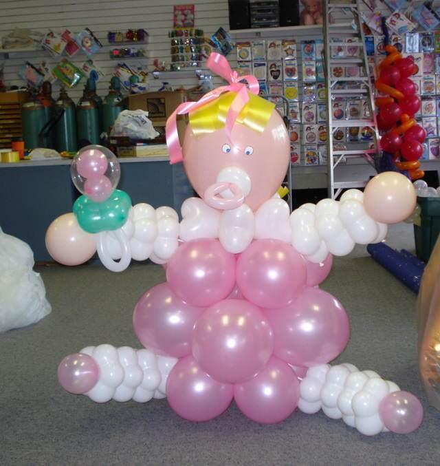 decoracion para baby shower bebe globos