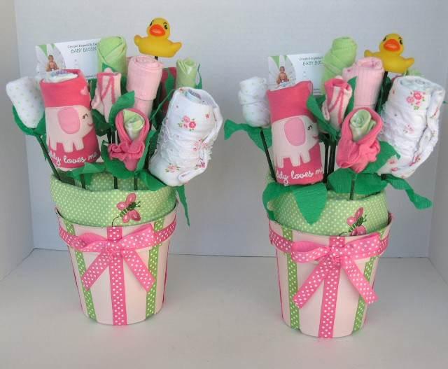 flores decoracion para baby shower nina
