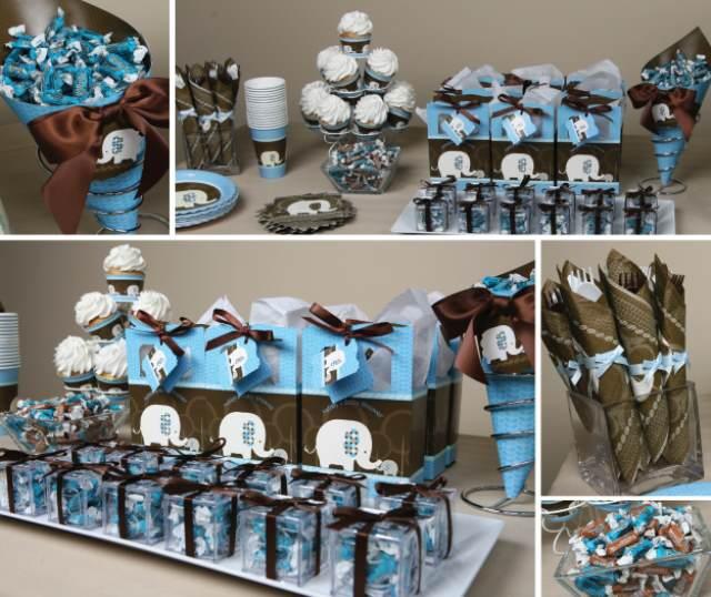 ideas color marron  azul hechas a mano