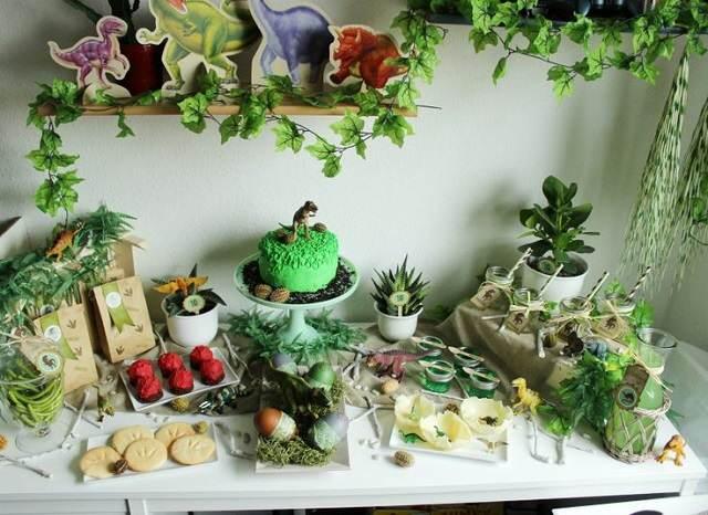 decoracion cumpleanos peliculas jurassic park color verde