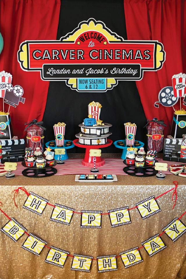 decoracion fiestas peliculas idea fabulosa