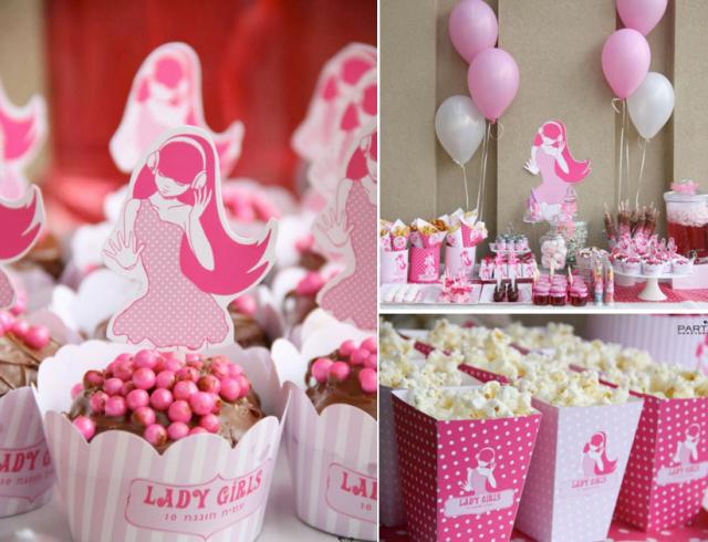 decoracion para cumpleanos peliculas mujeres rosado