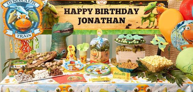 decoración para cumpleaños tema pelicula Jurassic park