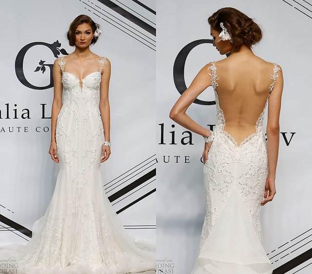 traje de novia maravillosa blanco boda 2015
