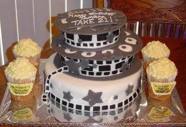 torta fabulosa:  decoracion para cumpleanos de tema peliculas