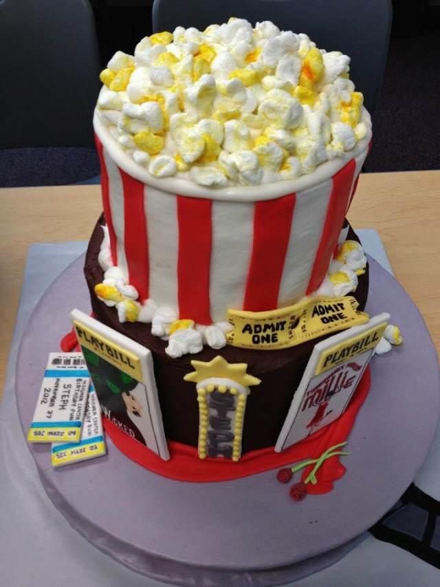 torta palomitas decoración fiesta películas