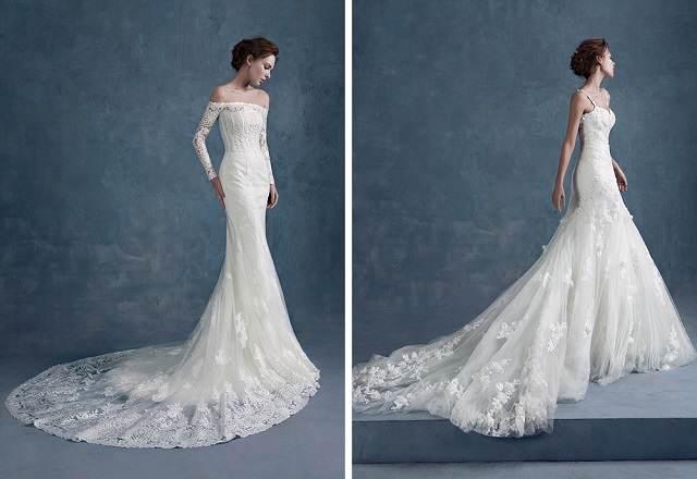 vestidos de boda otono tendencias nuevas 2015 largo